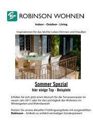Angebote Sommer Spezial 2011 - Robinson Wohnen