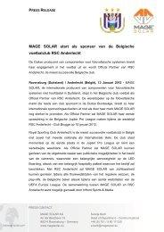 RSC Anderlecht - Mage Solar
