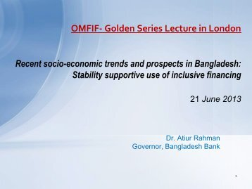 OMFIF- Golden Series Lecture in London - Bangladesh Bank