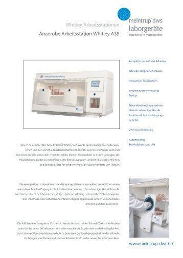Prospekt Whitley A35 - Meintrup DWS Laborgeräte