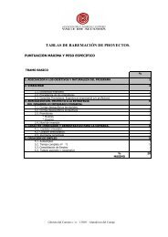 tablas de baremación de proyectos. - asociación para el desarrollo ...