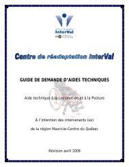guide de demande d'aides techniques - Centre de réadaptation ...