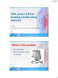 CEA versus CAS in treating carotid artery stenosis - RM Solutions