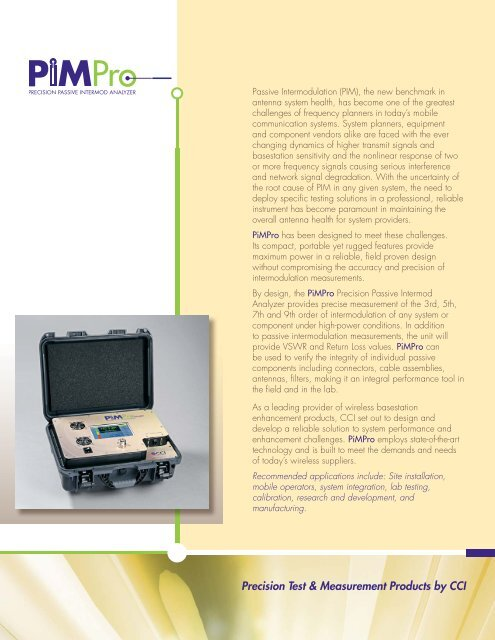 open pdf - Primus Electronics Corporation