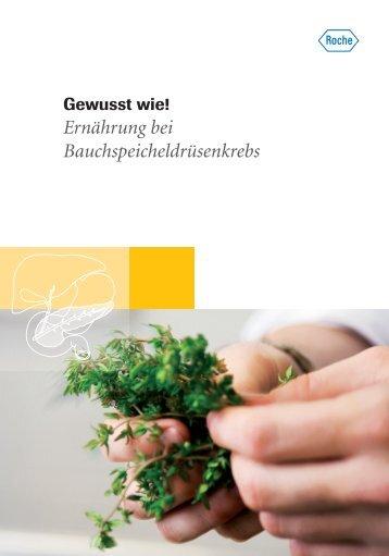 Ernährung bei Bauchspeicheldrüsenkrebs - Roche in Deutschland