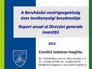 Raport anual a vicepreședintelui Petres Sándor - Hargita Megye ...