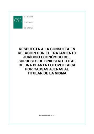 respuesta a la consulta en relación con el tratamiento jurídico ...
