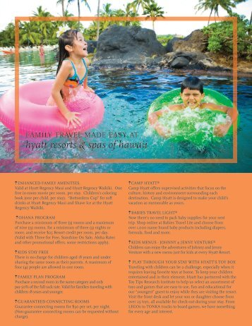 hyatt resorts & spas of hawaii - VAX VacationAccess