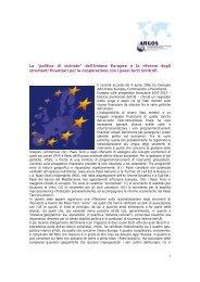 dell'Unione Europea e la riforma degli strumenti finanziari per la ...