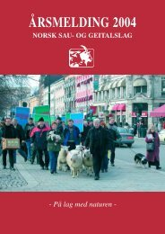 ÅRSMELDING 2004 - Norsk Sau og Geit