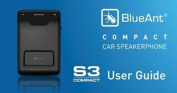 BlueAnt S3 User Guide - AlternativeWireless.com Inc.