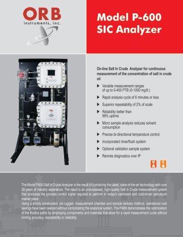 P-600 Salt in Crude Analyzer Brochure - OrbInstruments.com