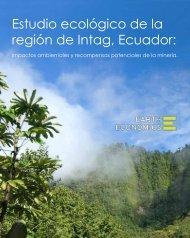 Estudio ecológico de la región de Intag, Ecuador: - Earth Economics
