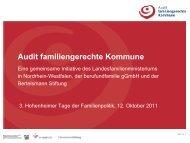 Audit familiengerechte Kommune