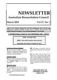 March 2003 - Australian Resuscitation Council