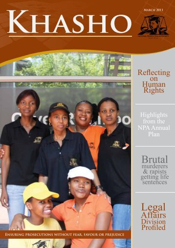Khasho March 2011 - National Prosecuting Authority