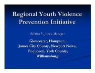 Sabrina Jones, Manager, Regional Youth Violence Prevention ...