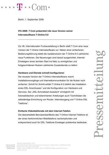 PM Fax T-Mobile Deutschland Deutsch