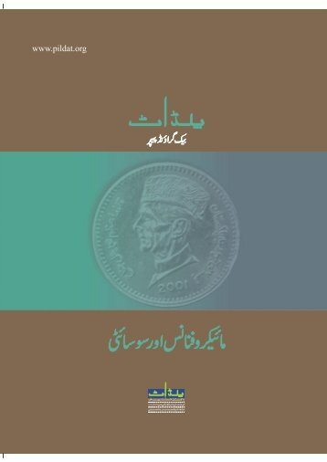 MICROFINANCE and Society Background PAPER URDU - Pildat.org