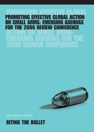 emerging agendas for the 2006 review conference - International Alert