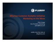 Wharton Customer Analytics Initiative Marketing on the Move