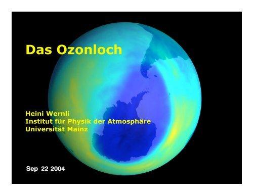 Das Ozonloch - im Fachbereich Physik, Mathematik und Informatik