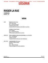 ROGER LA RUE - Agence Goodwin