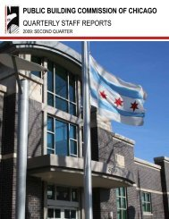 2009 Q2 Staff Report - the Public Building Commission of Chicago