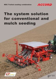 The system solution for conventional and mulch seeding
