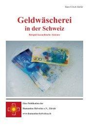 Geldwäscherei in der Schweiz - Humanitas Helvetica