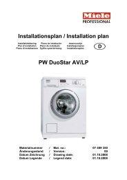 Miele PW 5062 AV Marathon Installationsplan - VS Elektro
