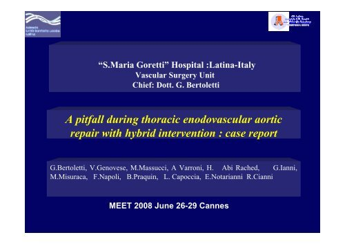 A pitfall during thoracic enodovascular aortic repair with
