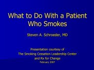 What to Do With a Patient Who Smokes - Smoking Cessation ...