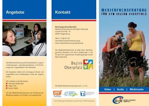 Flyer Medienfachberatung - Bezirksjugendring Oberpfalz