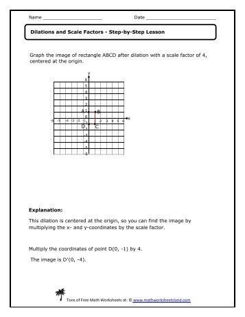 Worksheet Dilations Worksheet 8th Grade math dilations worksheet geometry coordinate plane reflection land worksheet