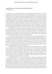 Context Matters: Notes Towards the 4th Marrakech ... - Higher Atlas