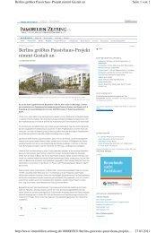 Berlins größtes Passivhaus-Projekt  nimmt Gestalt an
