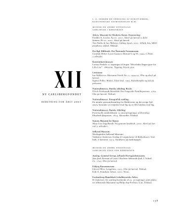 XII. - Ny Carlsbergfondet