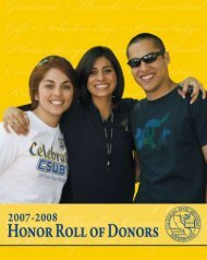 Download Honor Roll of Donors - CSUB Foundation