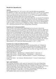 Bericht des Jugendwartes - Deutscher Hockey Bund e.V.