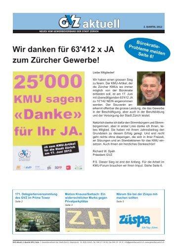 GVZ aktuell 2. Quartal 2012 - Gewerbeverband der Stadt Zürich