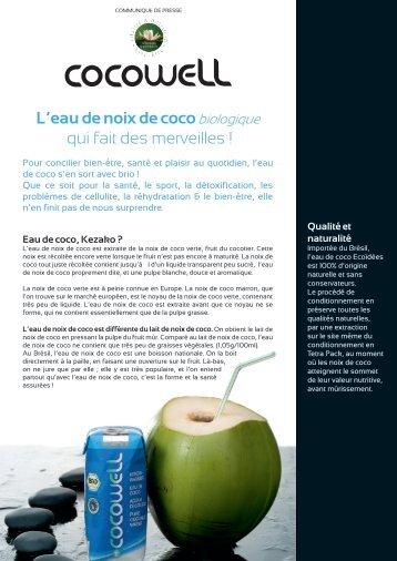 L'eau de noix de cocobiologique qui fait des merveilles - Bionessence