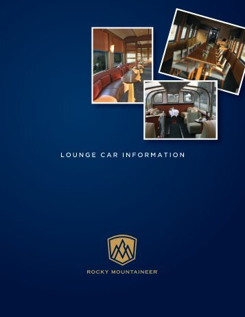 LOUNGE CAR INFORMATION - Rocky Mountaineer