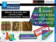 I Sesión Micro y Nano Caracterización en Plásticos - UPC