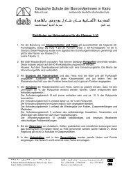 Richtlinien zur Notengebung 090827 - DSB | Kairo