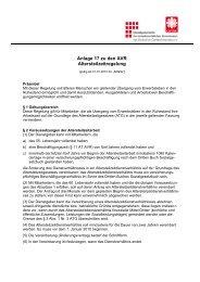 Anlage 17 zu den AVR Altersteilzeitregelung - Caritas-dienstgeber.de