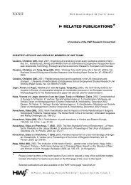 XXXII RELATED PUBLICATIONS* - HWF