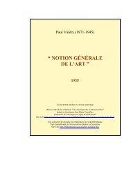 Notion générale de l'art - Les Classiques des sciences sociales ...