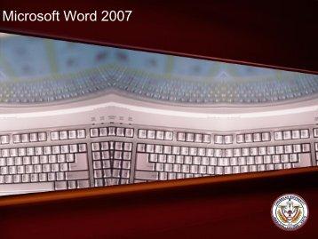 Microsoft Word 2007 - Caribbean University