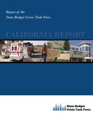 California Report Cover.pub - State Budget Crisis Task Force
